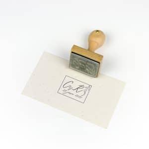 """Sello Personalizado """"Claudia"""" impreso en papel"""
