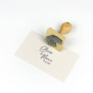 """Sello Personalizado """"Olivia"""" estampado en papel"""